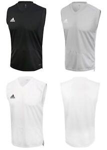Adidas Men Condivo 18 Jersey Sleeveless Shirts Gray Black White Top ... f342517b5e50f