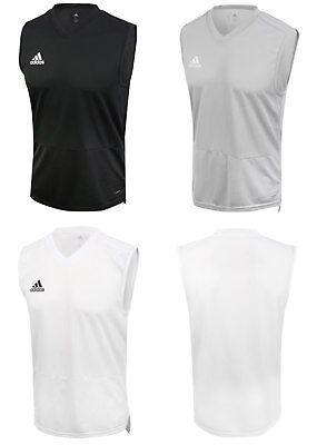 Adidas Men Condivo 18 Jersey Sleeveless Shirts Gray Black White ...