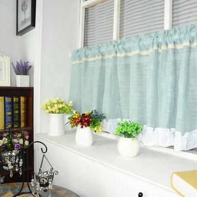 White Pink Transparent Short Sheer Curtains Kitchen Cafe Window Drapes 1  Piece | eBay