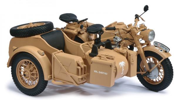 1 10 Schuco Zündapp KS 750 Afrikakorps mit Beiwagen 450661400    Verschiedene aktuelle Designs