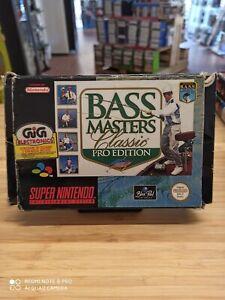 Super nintendo BASS MASTER classic pro edition COMPLETO PAL