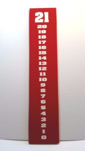 White on Red Cornhole Scoreboard School Football Color Theme