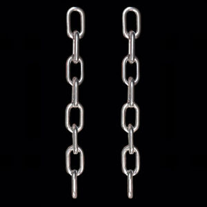 Image Is Loading Silver Metal Large Chunky Drop Link Chain Long