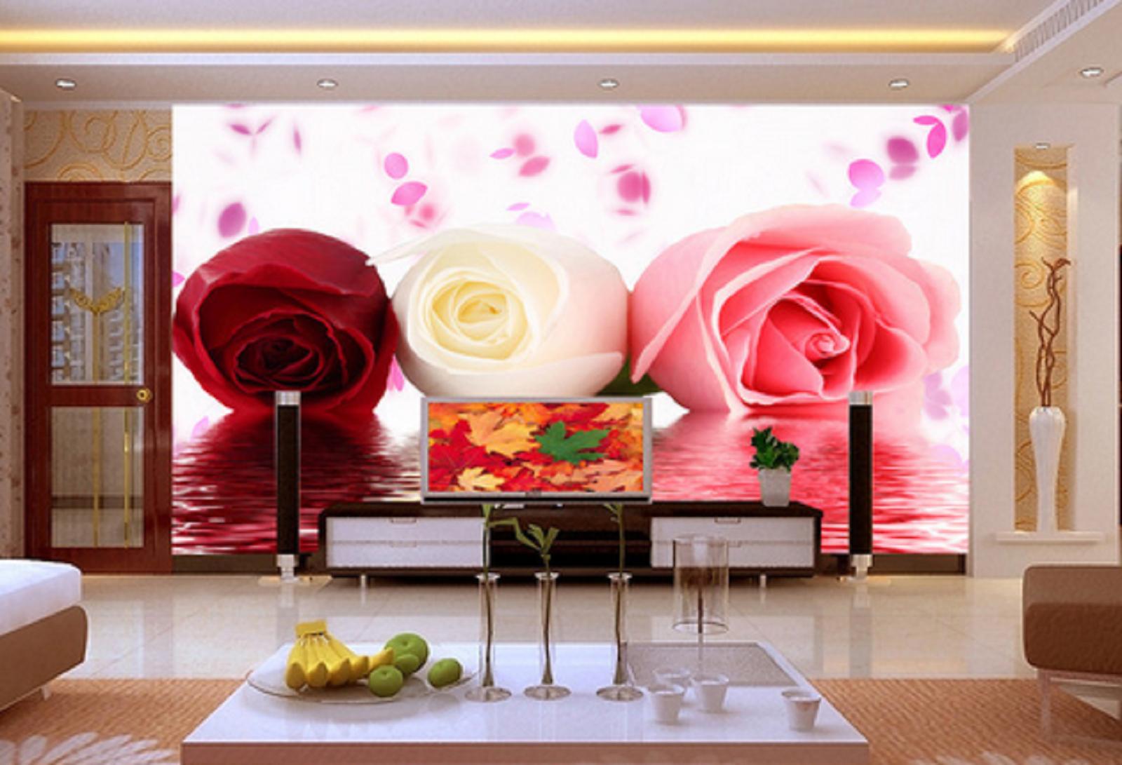 3D Bunte Rosen Blumen 562 Tapete Tapeten Mauer Foto Familie Tapete Wandgemälde