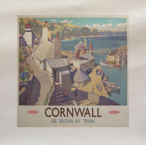 Cornwall trave  Printed Fabric Panel Make A Cushion Upholstery Craft