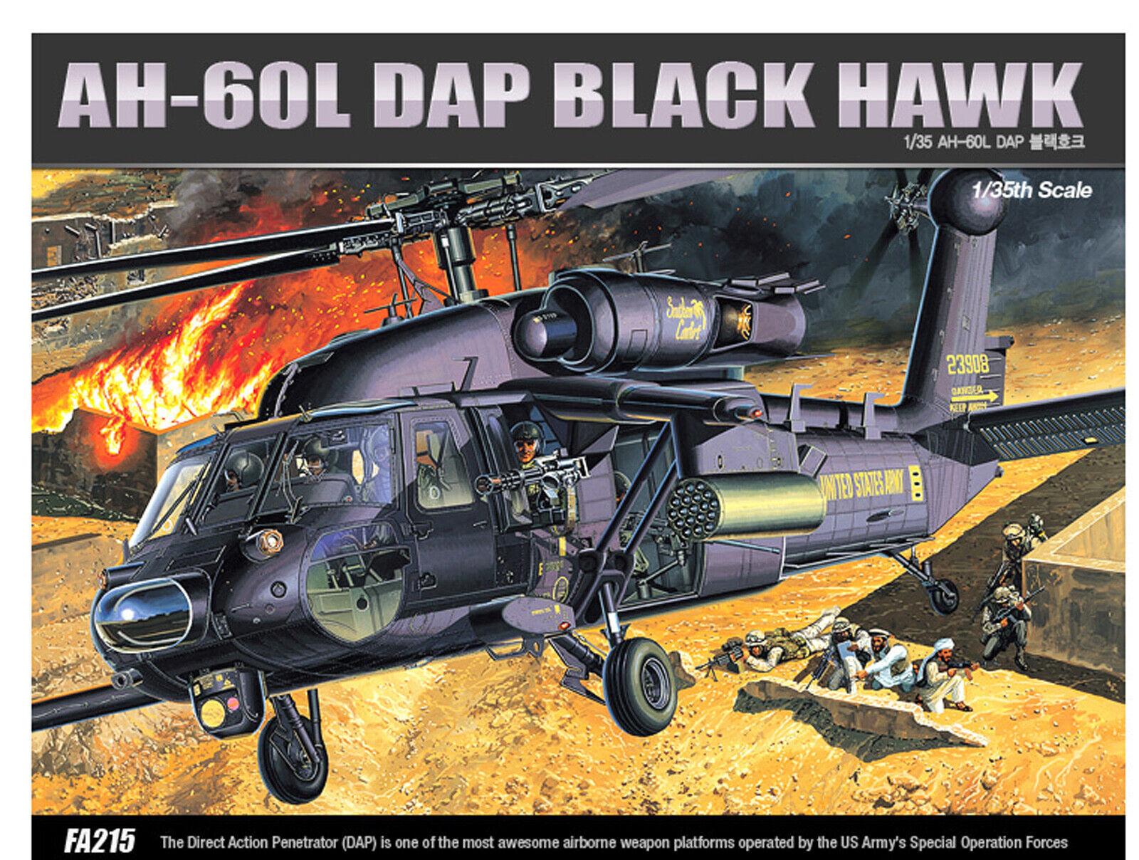 1 35 AH-60L DAP schwarz HAWKS   12115 Hellicopter 1 35 Military Modell
