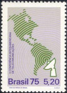 Brazil-1975-Telecommunications-Conference-Radio-Dish-Aerial-Map-1v-n27987