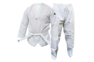 Adidas-WT-Student-Taekwondo-Suit-Adult-Kids-Dobok-Childrens-Uniform-amp-Belt-WTF