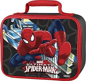 Kids Lunch Box Bag Spiderman Thermos Soft Toddler Boy Gift