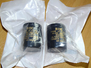 2 BRAND NEW BHC BHC capacitors Naim Audio PSU NAP180 140 10000uF 40V RARE - <span itemprop=availableAtOrFrom>Leeds, West Yorkshire, United Kingdom</span> - 2 BRAND NEW BHC BHC capacitors Naim Audio PSU NAP180 140 10000uF 40V RARE - Leeds, West Yorkshire, United Kingdom