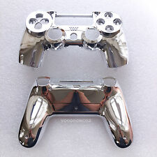 CUSTOM SILVER CHROME PLAYSTATION 4 CONTROLLER HOUSING SHELL -PS4 MOD KIT