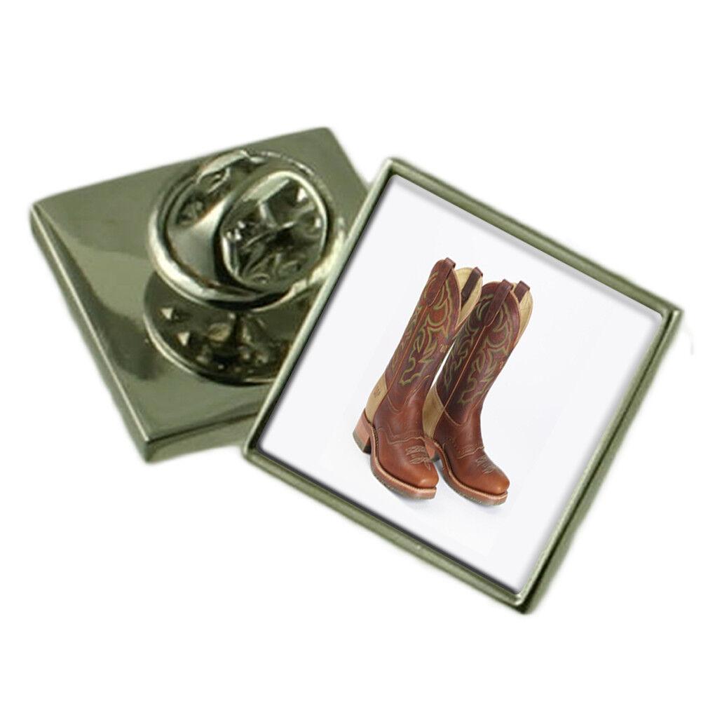 Stivali Stivali Stivali da cowboy argentoo Sterling bavero pin Scatola Regalo 75dbda