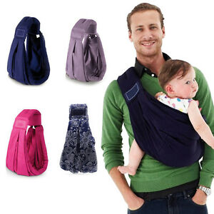 Newborn Baby Sling Carrier Ring Wrap Adjustable Soft Nursing Pouch