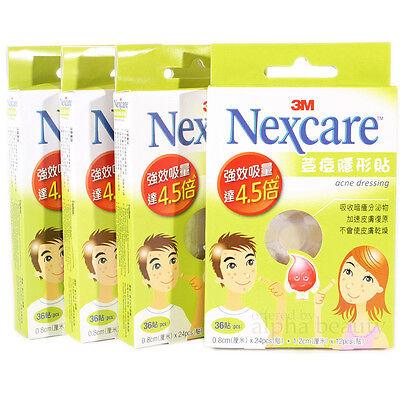 3M NEXCARE Acne Dressing Patch Pimple Stickers (4 x 36 pieces) Expiry 2019/5/31