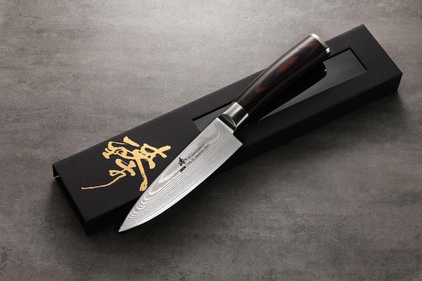 ZHEN Japanese VG-10 67-Layer Damascus Steel Gyuto Gyuto Gyuto Chef's Knife, 6-Inch 661b90