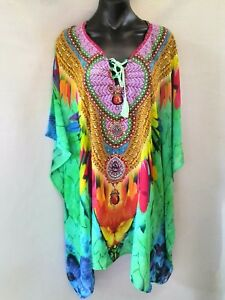 Sheer-Chiffon-Poly-Embellished-Kaftan-Digital-Printed-Size-14-16-18-20-22-24