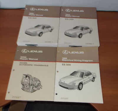 1992 LEXUS ES300 REPAIR MANUAL VOL 1&2 ELECTRICAL WIRING ...