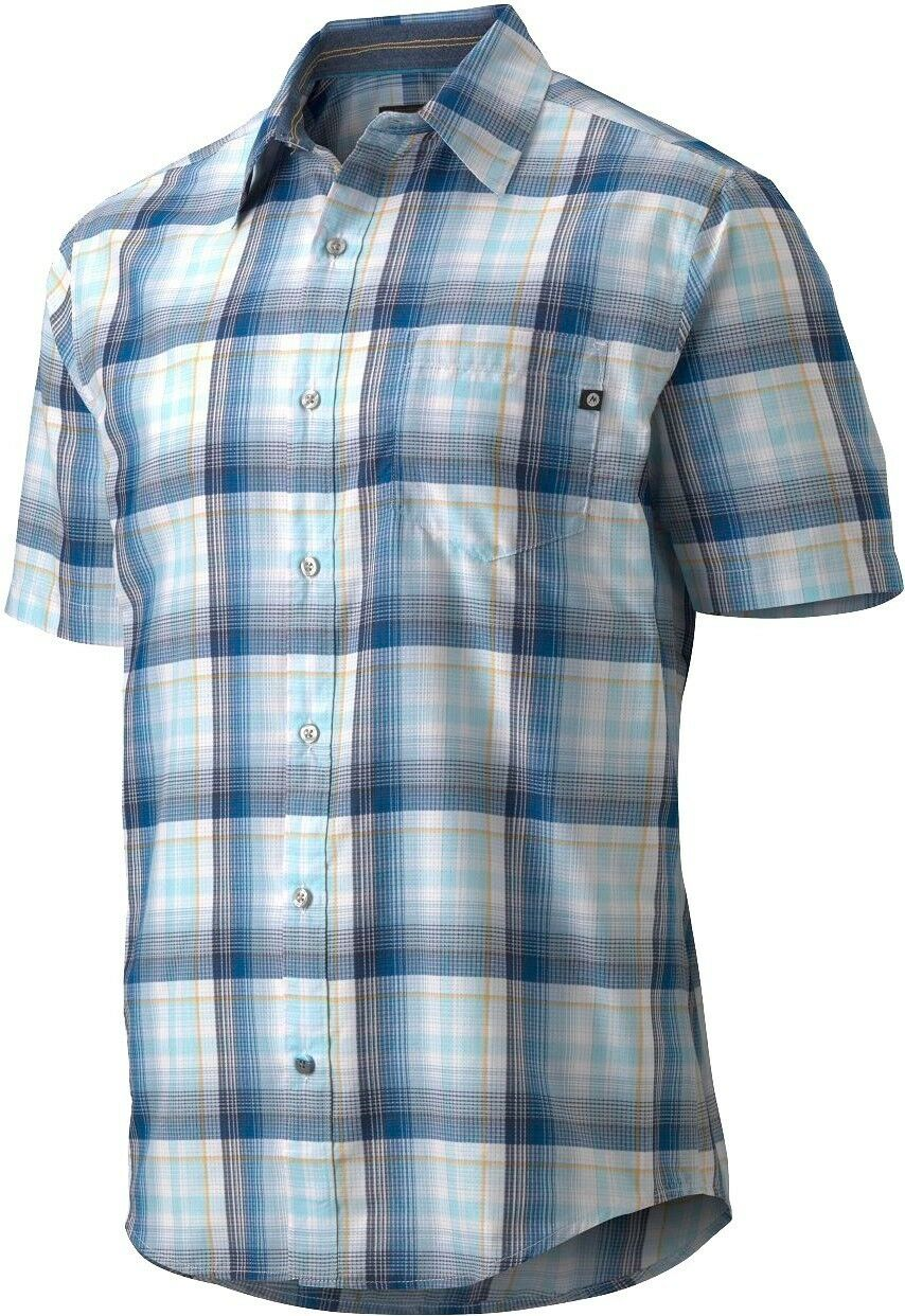 Marmot Notus Shirt Short Sleeve, Function Shirt for Men, Mosaic bluee