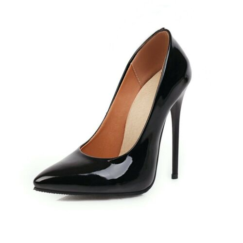 Ladies Party Shoes Synthetic Leather High Heels Pointed Toes Pumps US Size S862