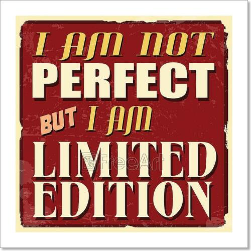 D I Am Not Perfect But I Am Limited Art Print Home Decor Wall Art Poster