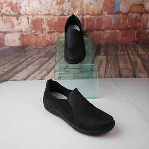Clarks-Cloud-Steppers-Soft-Cushion-Shoes-Size-9-Black
