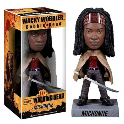 scatola rovinata Bobble-head Michonne The Walking Dead ufficiale by Funko