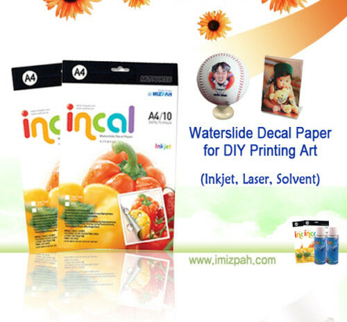 Incal paper Inkjet WHITE Waterslide Decal Paper 80sheets