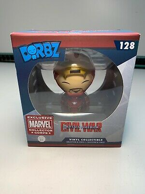 100% Wahr Marvel Funko Dorbz 128 Civil War Iron Man Unmasked Collectors Corps Exclusive