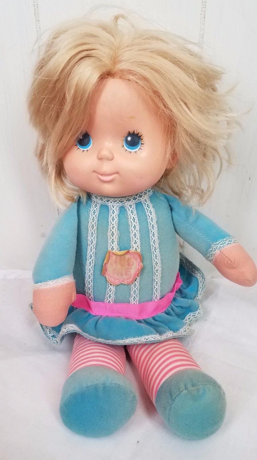 Vtg 1977 Mattel Talks Hug me baby doll Blonde with stuffed body RARE Works