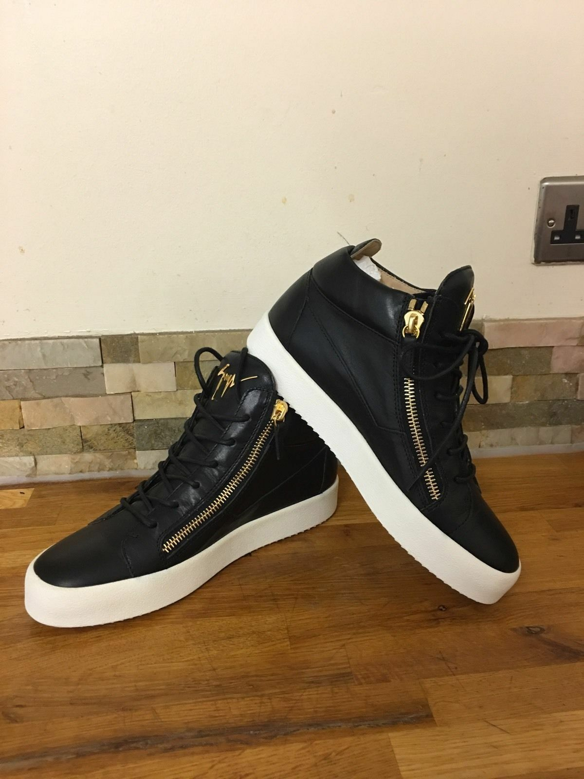 GIUSEPPE ZANOTTI May Mid Top Leather Trainers Size UK 5, 6, 7.5, 8