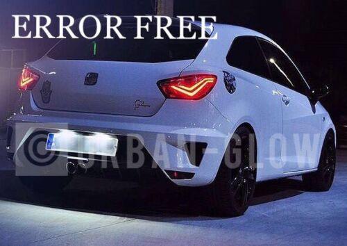 SEAT LEON IBIZA COOL WHITE LED NUMBER PLATE LIGHT UPGRADE Bulbs ERROR FREE FR
