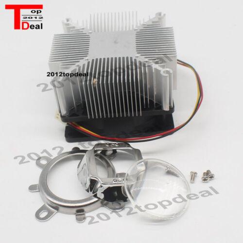 60° 44mm Lens 100W LED Aluminium Heat Sink Cooling Fan Reflector Brack