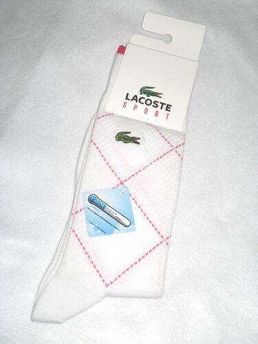 LACOSTE Sport Socks  White  Pink  Size  3-6 BNWT