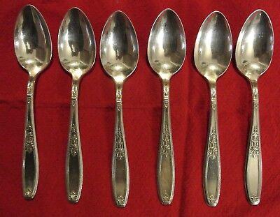 4 Heritage Pattern Teaspoons 1847 Rogers Bros International Silver Plate Vintage
