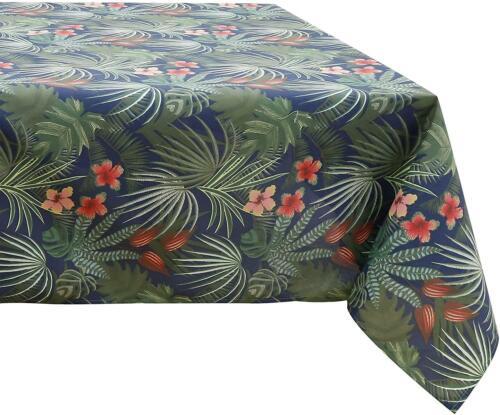 environ 152.40 cm Bleu Vert Rouge Tropical Leaf Hydrofuge ronde Nappe salle à manger 152 CM 60 in