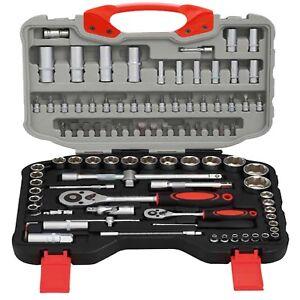 WNB-94pcs-1-2-034-1-4-034-Steckschluesselsatz-Schraubendreher-Torx-Ratsche-Fahrer-Tasche-Tool-Kit