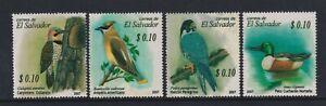 El Salvador - 2007, Vögel Set - MNH - Sg 2801/4