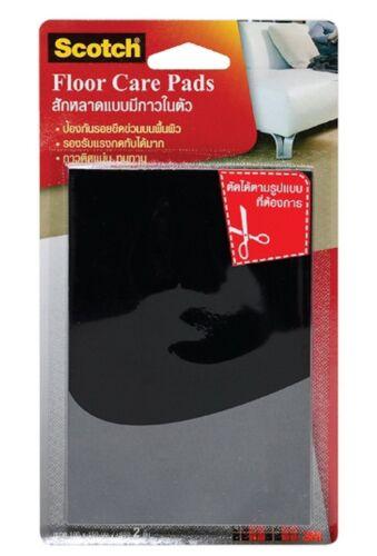 3M SCOTCH FELT FLOOR CARE PADS SHEET SELF-STICK BEIGE BLACK 100 X 150MM 2PC PACK