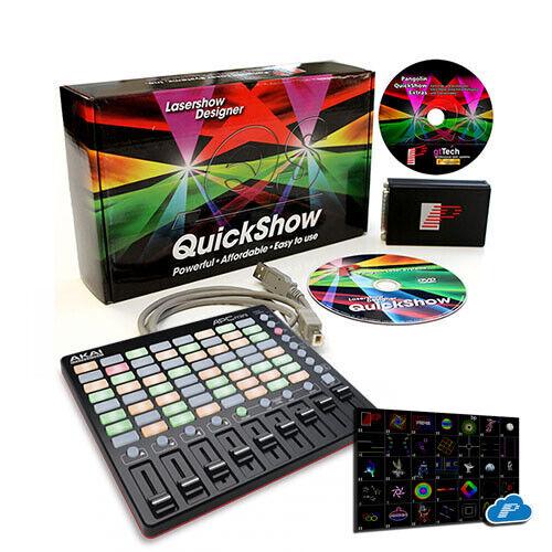 Laserdesigner Pangolin Quickshow 4.0 FB3 QS inkl. Akai APC-Mini Midi Controller