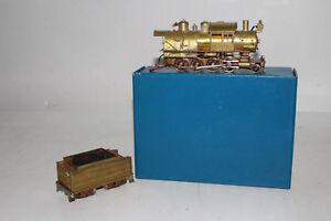 M.B. AUSTIN HO SCALE BRASS L.I.R.R. 2-8-0 STEAM LOCOMOTIVE ENGINE & TENDER
