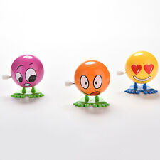 1 Pcs Wind up Face Colorful Funny  Cartoon Somersault Running Clockwork CAGN