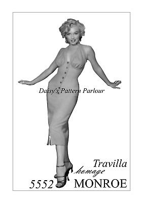 Vintage Marilyn Monroe Sewing Pattern Pink Halter Dress Niagara 1950 Daisys