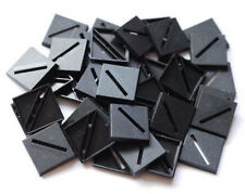 100 (One Hundred) 25mm Square Slotta Bases for Wargaming and Roleplaying New