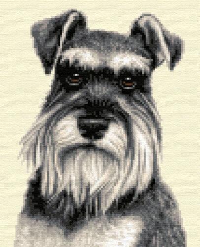 Full counted cross stitch kit MINIATURE SCHNAUZER dog