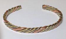 Copper, Brass + White Metal Medicine Cuff Bracelet New Design & Free Ship in USA