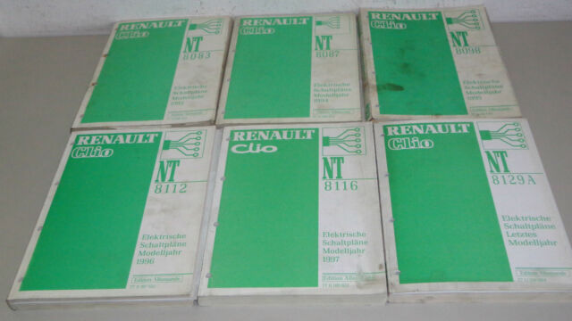 Workshop Manual Electricity Schematics Renault Clio Type