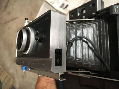 Polaroid Land Camera Automatic 100, Flash,Close up Lens, Paperwork, Bag, Manual
