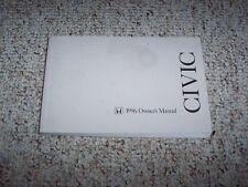 1996 Honda Civic Sedan Owner Owner's Manual User Guide DX LX ES 1.6L