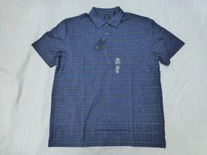 NWT-MENS-ARROW-SHORT-SLEEVE-POLO-SHIRT-50-BLUE-PLAID-52S3606410
