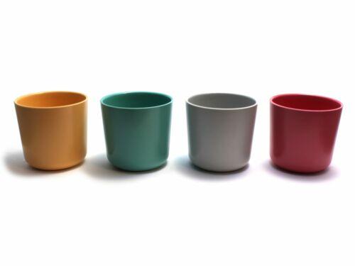 Biobu by Ekobo 4er Set Bambino Cup Trink-Becher Kinder-Becher Bambus-Geschirr